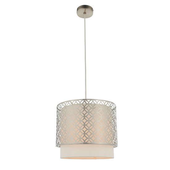 Gilli Wall Hung 1 Pendant Light In Nickel And Vintage White