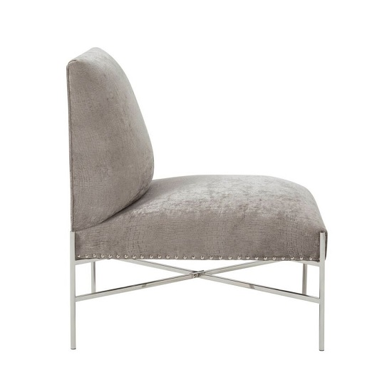 Ginnie Fabric Accent Chair In Slate With Stainless Steel Legs_3
