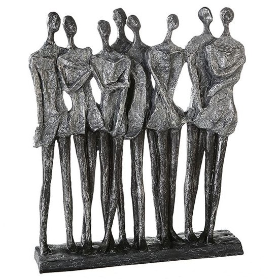Girls Night Out Poly Design Sculpture In Antique Silver And Grey