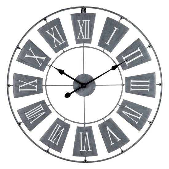 Givoa Small Metal Contemporary Wall Clock In Grey