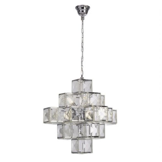 Glacier Acrylic Wall Hung 7 Pendant Light In Chrome
