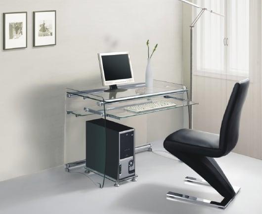 glass computer desks furnitureinfashion uk. Black Bedroom Furniture Sets. Home Design Ideas