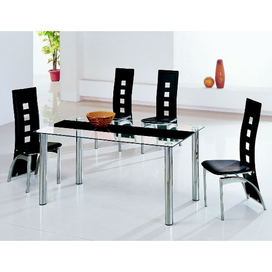 Glass Dining Tables And 6 Chairs Furnitureinfashion UK