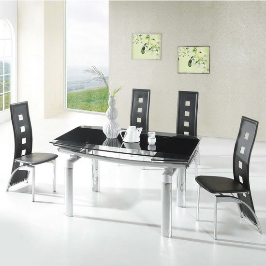 kitchen table and chairs Page Furniture kitchen table  : glass dining tables megaD215 from www.kitchentablesandchairs.co.uk size 550 x 550 jpeg 49kB