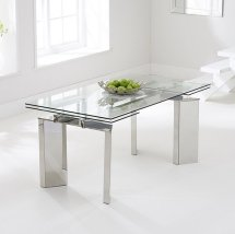 Marvelous Glass Dining Tables, Glass Dining Room Table, Extending Glass Dining Table Idea