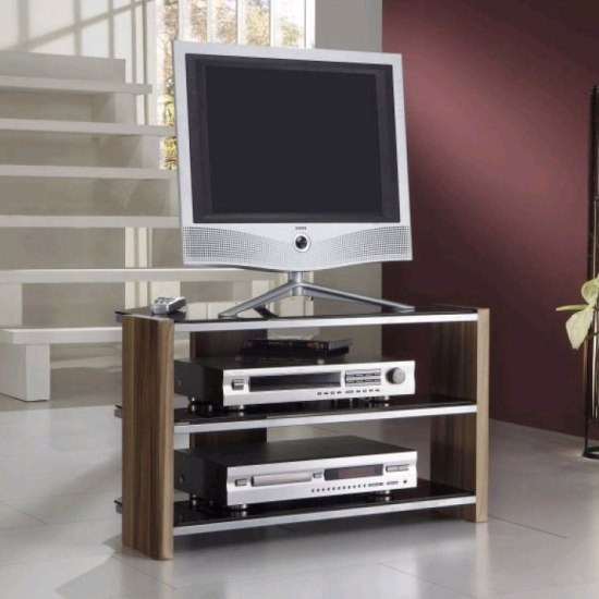 Black Glass Lcd Plasma Tv Stand