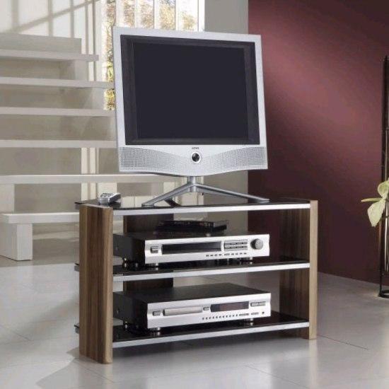 Black Glass Lcd Plasma Tv Stand