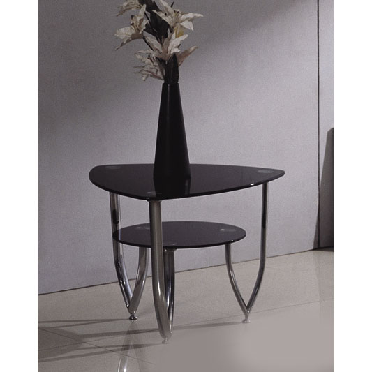 glass side end tables loopBlkLmp - Stylish Atmospheric Lamp Tables