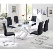 Glass Dining Table Sets Free UK Delivery Furniture in Fashion