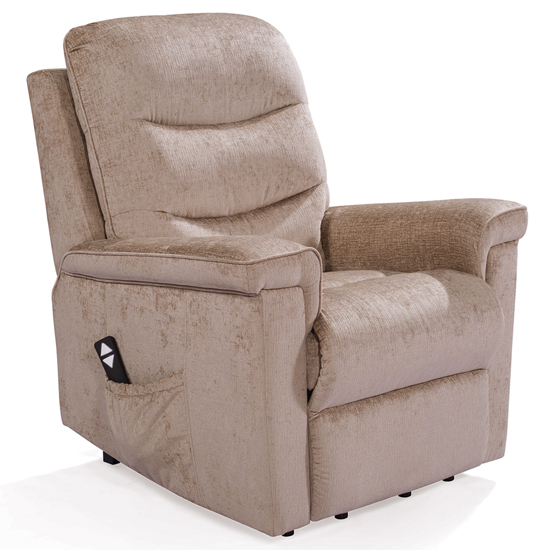 Glencoe Electric Fabric Recliner Chair In Mink