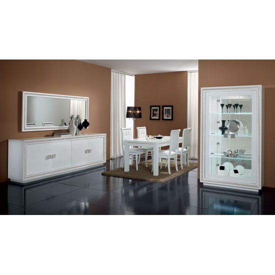 Gloria Sideboard In White High Gloss With Crystal Details_2