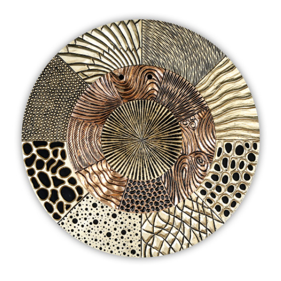 View Glorius wall object wooden wall art in gold