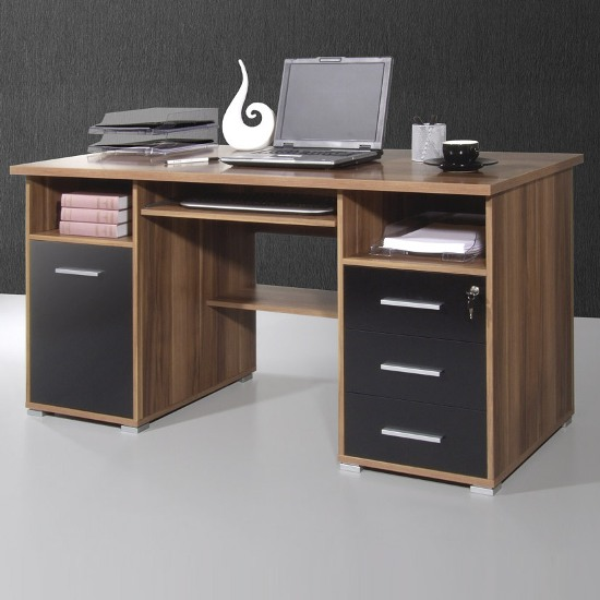 gloss black computer workstations 484 87 - 6 Small And Creative Computer Desks Ideas