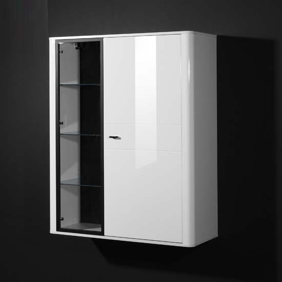 gloss white bathroom cabinets monza gloss white display cabinet 15425 furniture in 18520