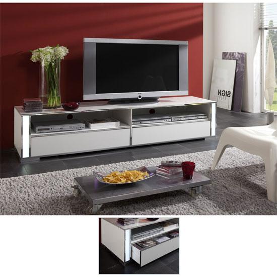 Lucent High Gloss White Plasma TV Stand