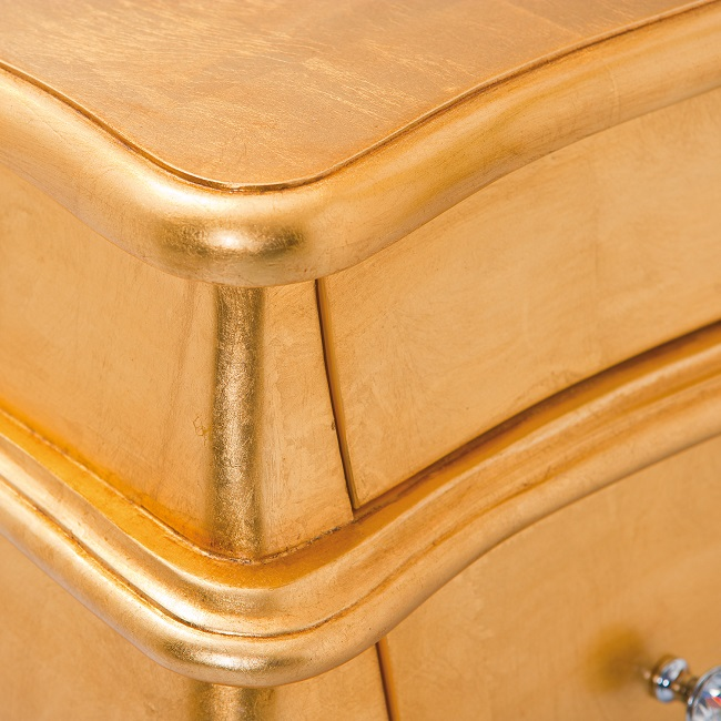 Baroque Style Chest Of Drawers Painted Gold