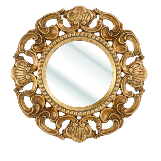 Roco Wall Mirror With Round Gold Frame 25194 Furniture In