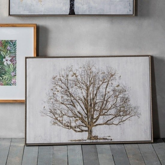 Hester Golden Oak Framed Wall Art