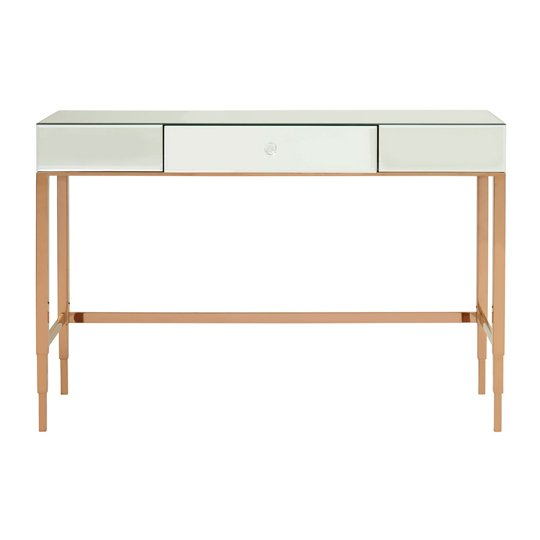 Goldie MDF 1 Drawer Console Table With Mirrored Glass