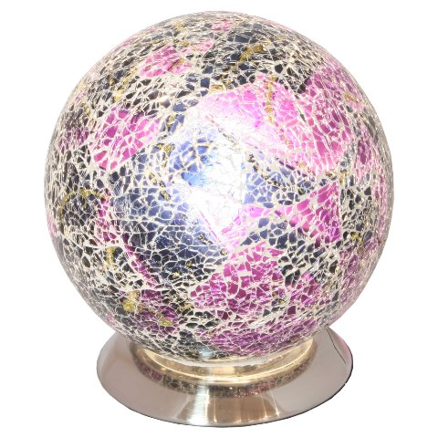 Read more about Mosaic purple sphere lamp