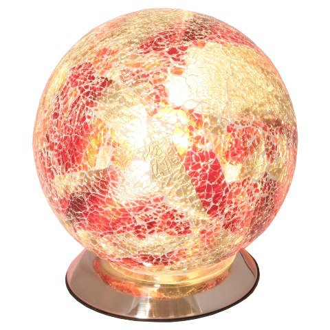 Read more about Mosaic red sphere lamp
