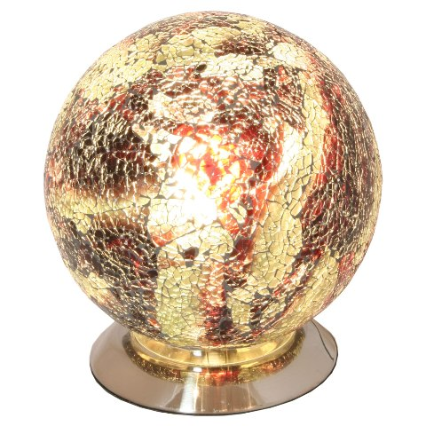 Read more about Mosaic orange amber sphere lamp