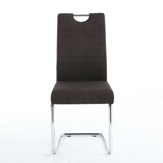 Grace Dining Chairs In Charcoal Linen Fabric In A Pair_4