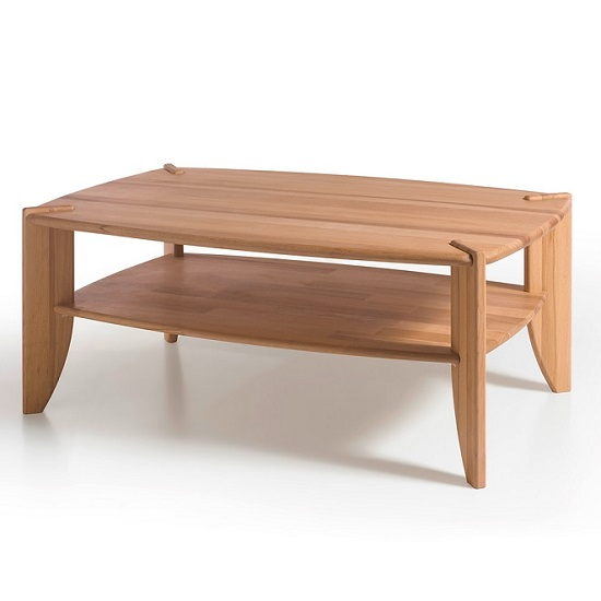 Gracie Coffee Table Rectangular In Core Beech With Undershelf