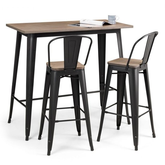 Grafton Bar Set In Mocha Elm With 2 Stools_2