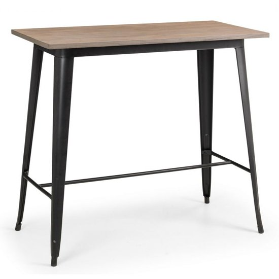 Product photograph showing Grafton Wooden Bar Table In Mocha Elm