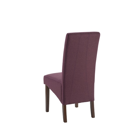 Grafton Fabric Dining Chair In Plum Herringbone With Dark Legs_2