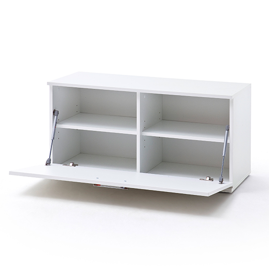 Granada Wooden Shoe Storage Bench In White High Gloss_3