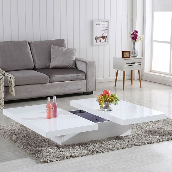Grande Storage Coffee Table In White High Gloss_2