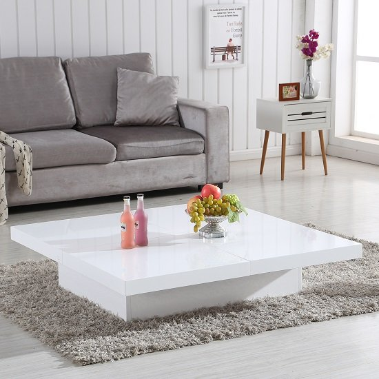 Grande Storage Coffee Table In White High Gloss_1