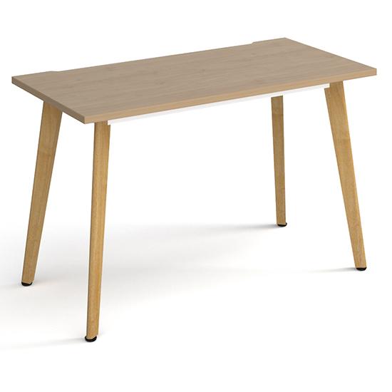 View Grange medium wooden laptop desk in kendal oak with oak legs