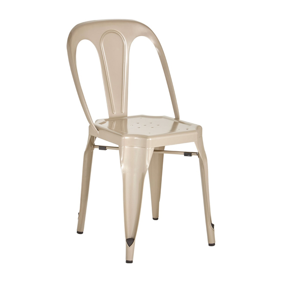 Dschubba Metal Dining Chair In Champagne
