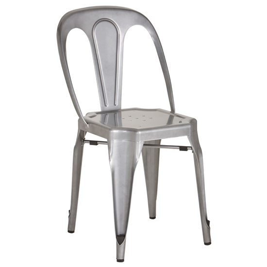 Dschubba Metal Dining Chair In Grey
