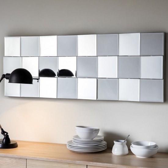Gravois Rectangular Wall Mirror With Silver Crackle Frame