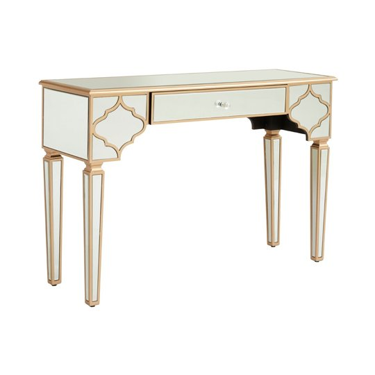 Dziban MDF Console Table With Mirrored Glass     _2