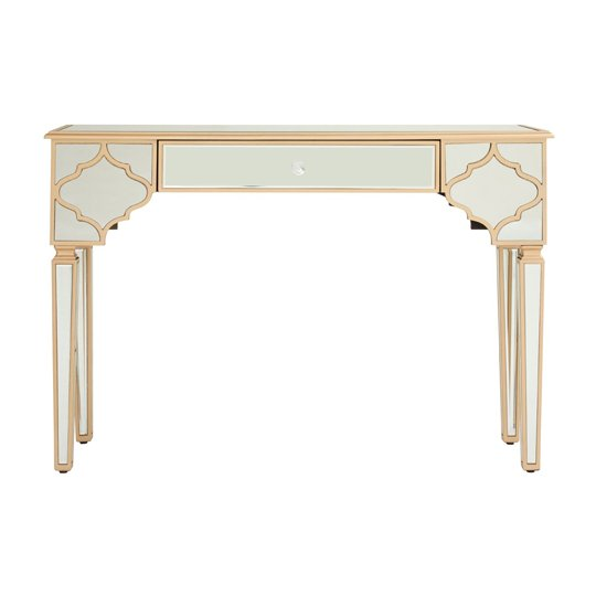 Dziban MDF Console Table With Mirrored Glass