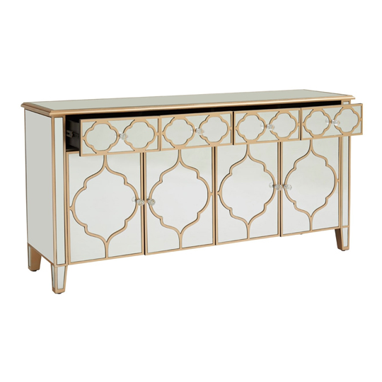 Dziban MDF Sideboard With With Mirrored Glass     _3