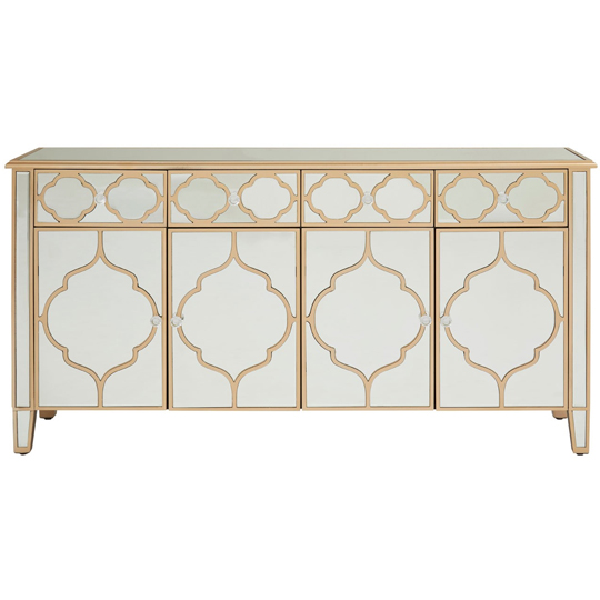Dziban MDF Sideboard With With Mirrored Glass     _1