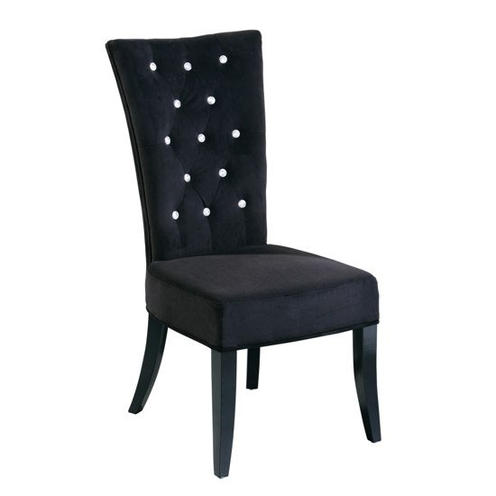bedroom furniture bedroom chairs radiance black velvet dining chair