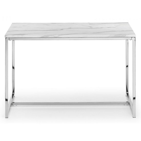 Angeles Marble Effect Dining Table Rectangular In White_1