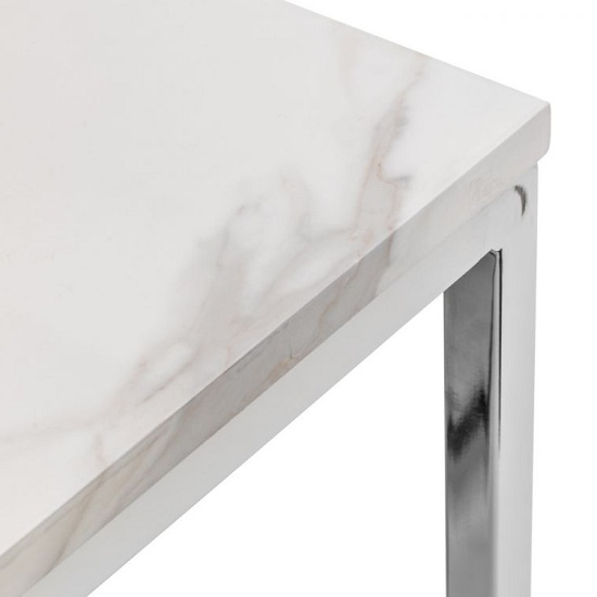 Angeles Marble Effect Dining Table Rectangular In White_2