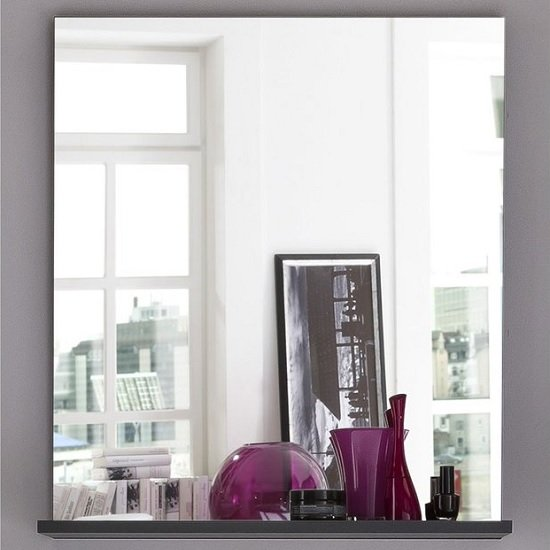 Greeba Wall Mirror In Grey With A Shelf