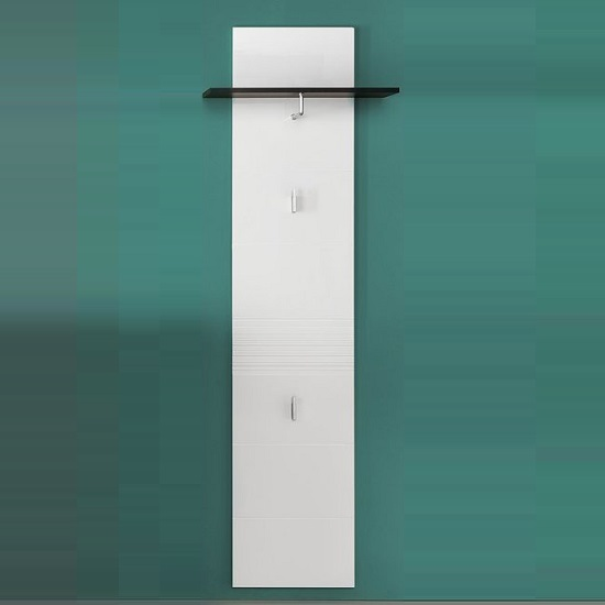 Greeba Wall Mount Coat Rack In Grey And High Gloss White Fronts_1