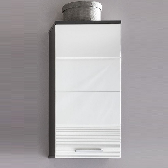 Greeba Wall Mount Bathroom Cabinet In Grey And Gloss White