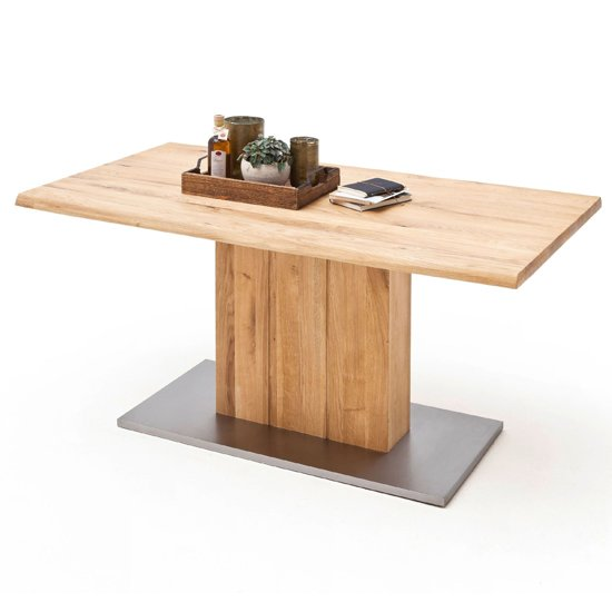 Greta Extra Large Life Edge Dining Table In Solid Oak