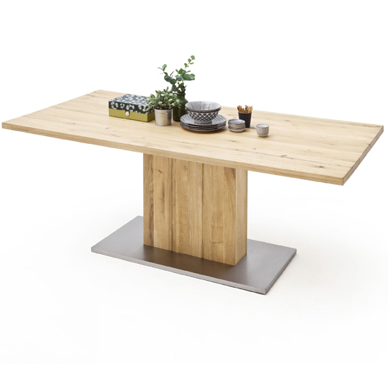 Greta Extra Large Straight Edge Dining Table In Solid Oak